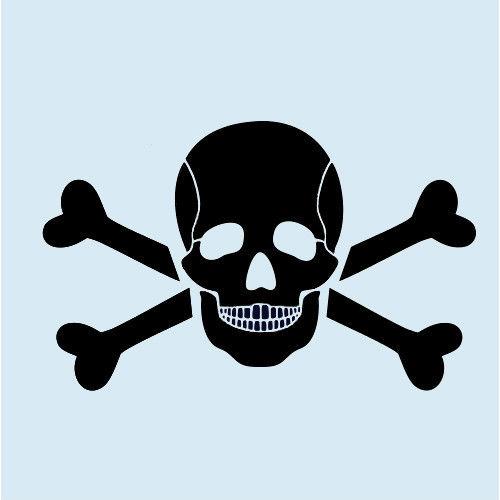 500x500 Skull Stencil Bone Stencils Cross Bones Template Skeleton