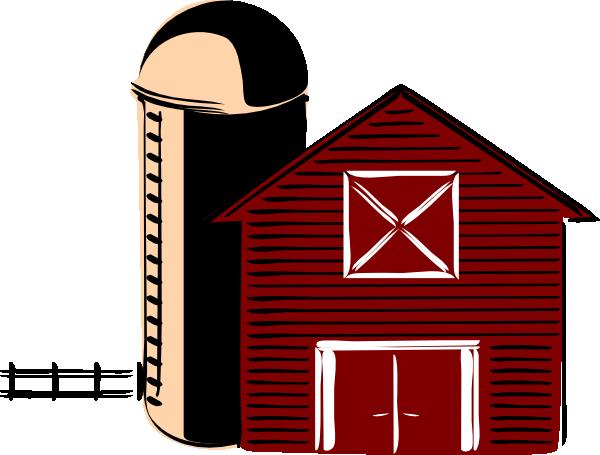 600x455 Traditional Barn Clip Art