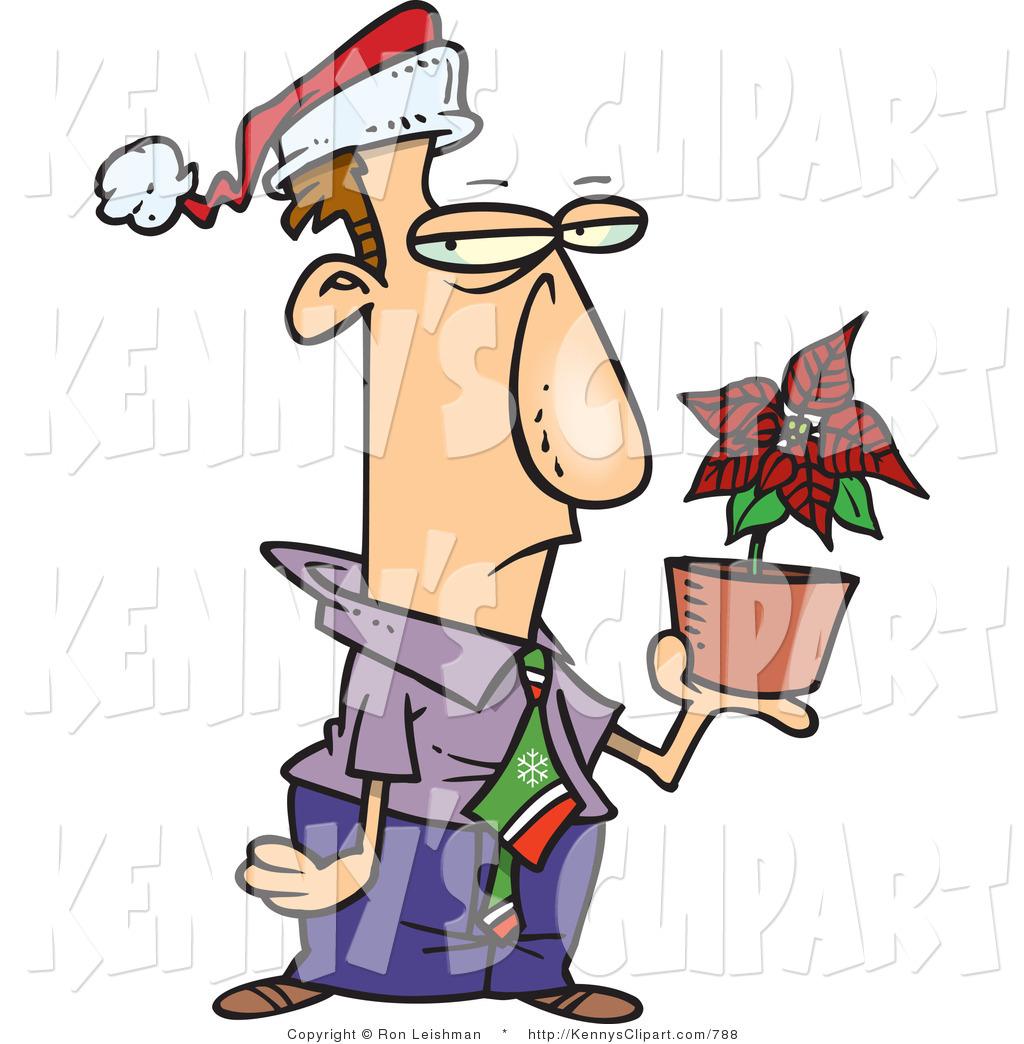 1024x1044 Cliprt Ofn Unhappy Employee In Santa Hat, Holding