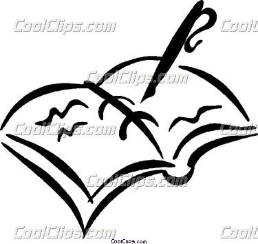 375x354 Fountain Pen With Record Book Vector Clip Art