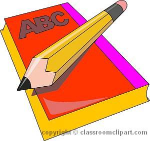 300x283 Book clipart pencil