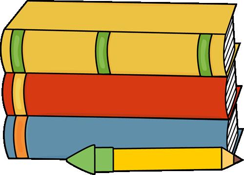500x358 Books and Pencil Clip Art Clipart Panda