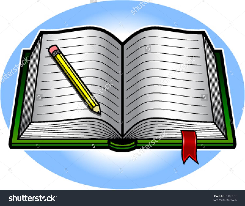 1500x1260 Clip Art Book And Pencil Clip Art