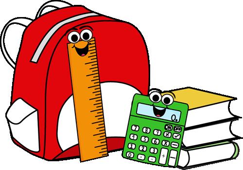 500x349 Clip Art gt Backpack, Books Clipart Panda