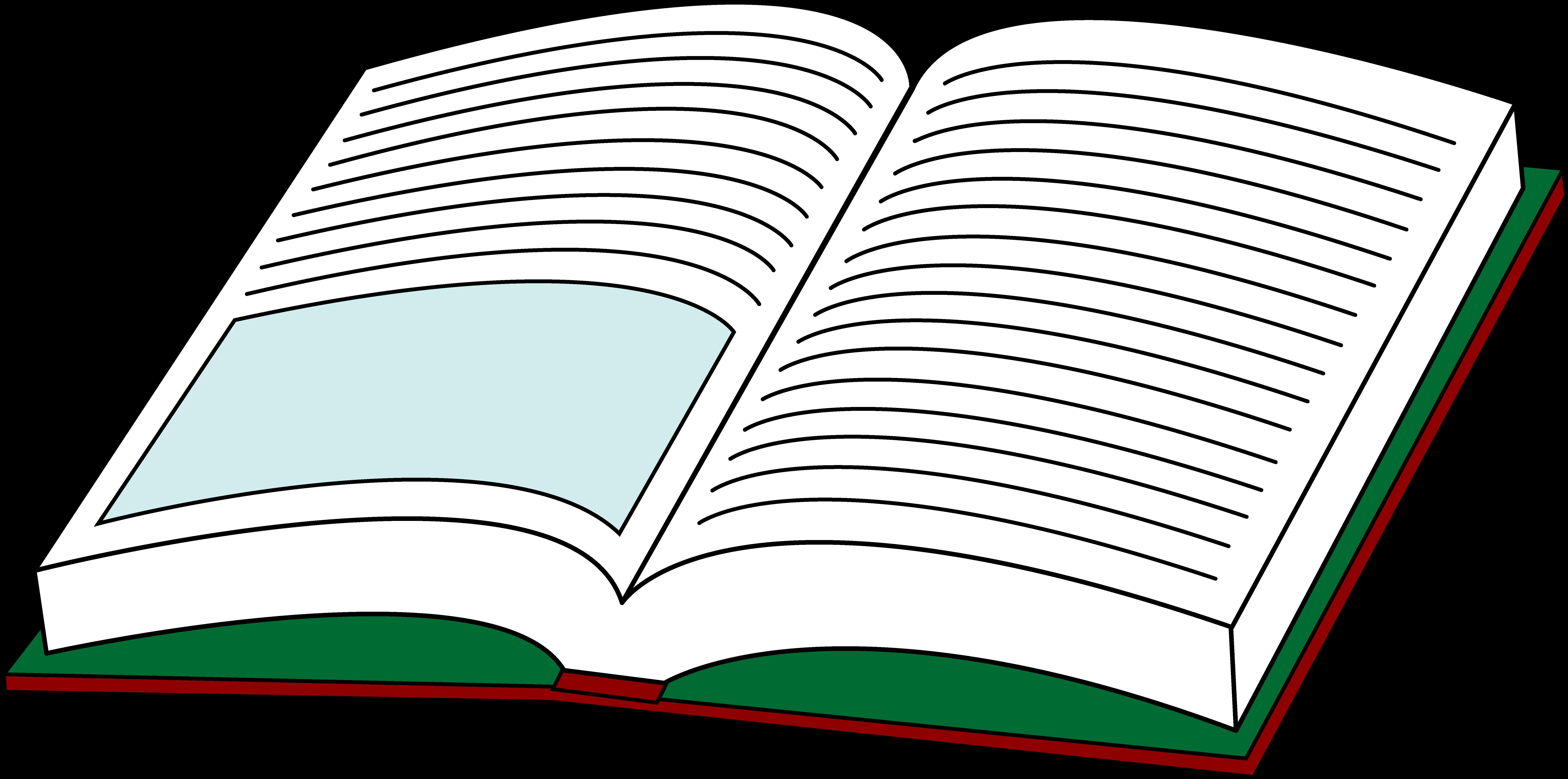 8104x4026 Book Clipart Open Book