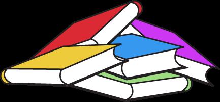 433x200 Book Pile Clip Art