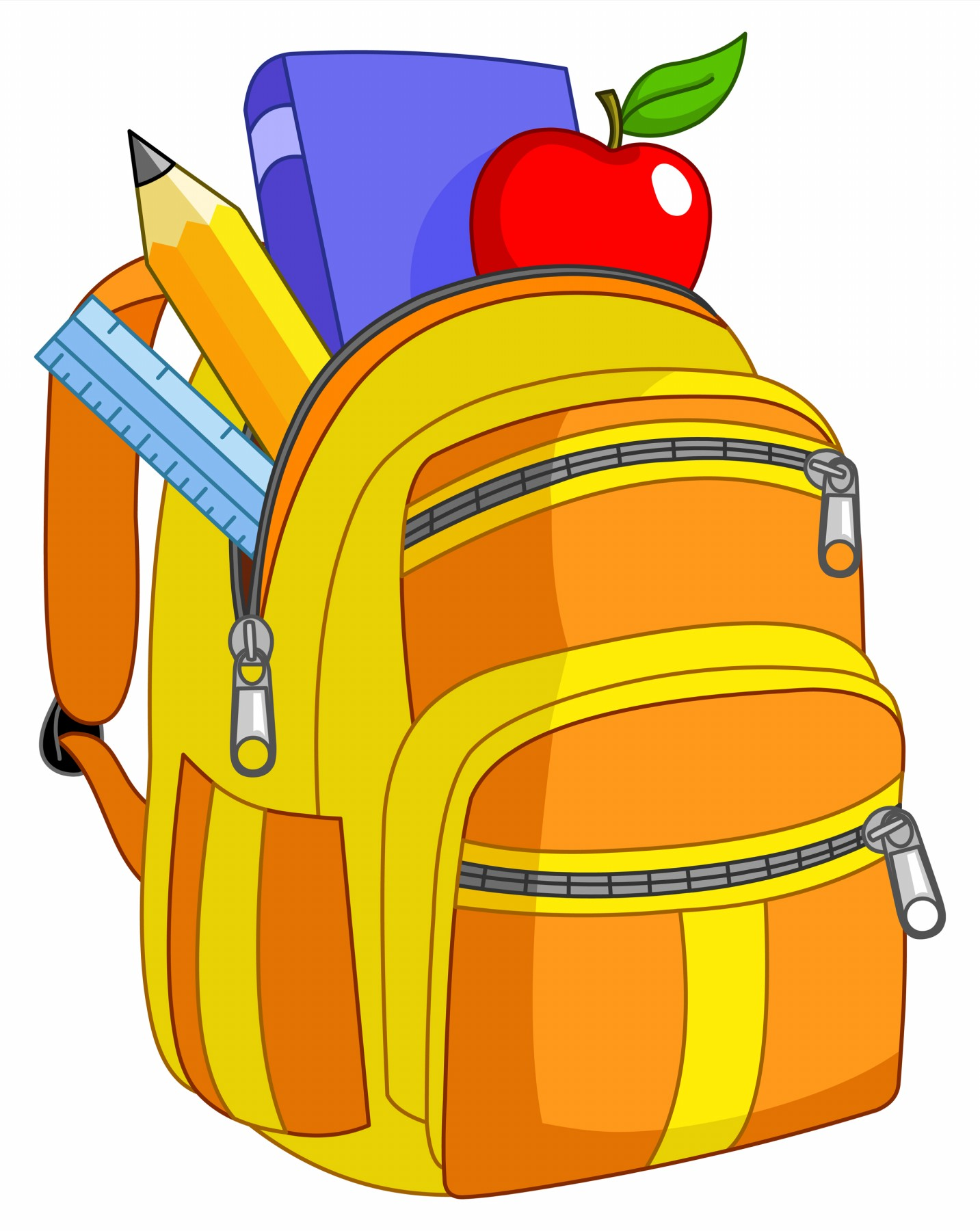 1433x1800 Book Bag Clipart
