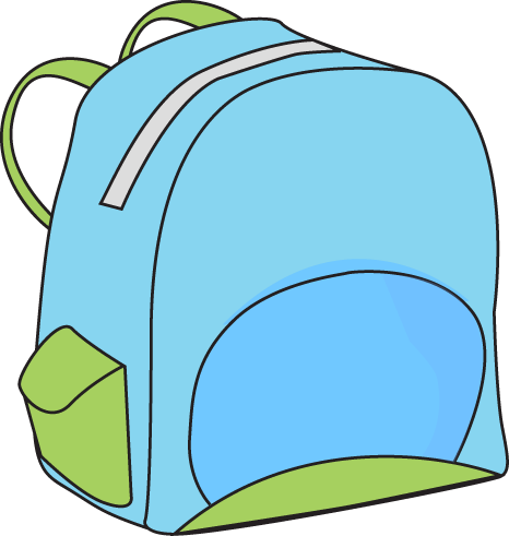 466x491 Book bag clipart