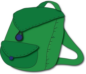 300x258 Backpack Clipart Image