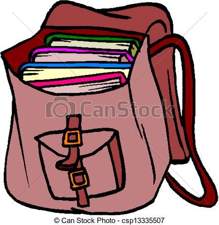 450x462 Book In A Bag Clipart