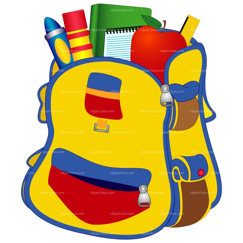 800x800 Bookbag School Backpack Clipart Library Free Images
