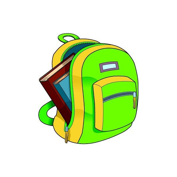 600x600 Classroom Clipart Free Clipart School backpack books found