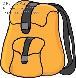 294x300 Backpack or Book Bag Royalty Free Clip Art Picture