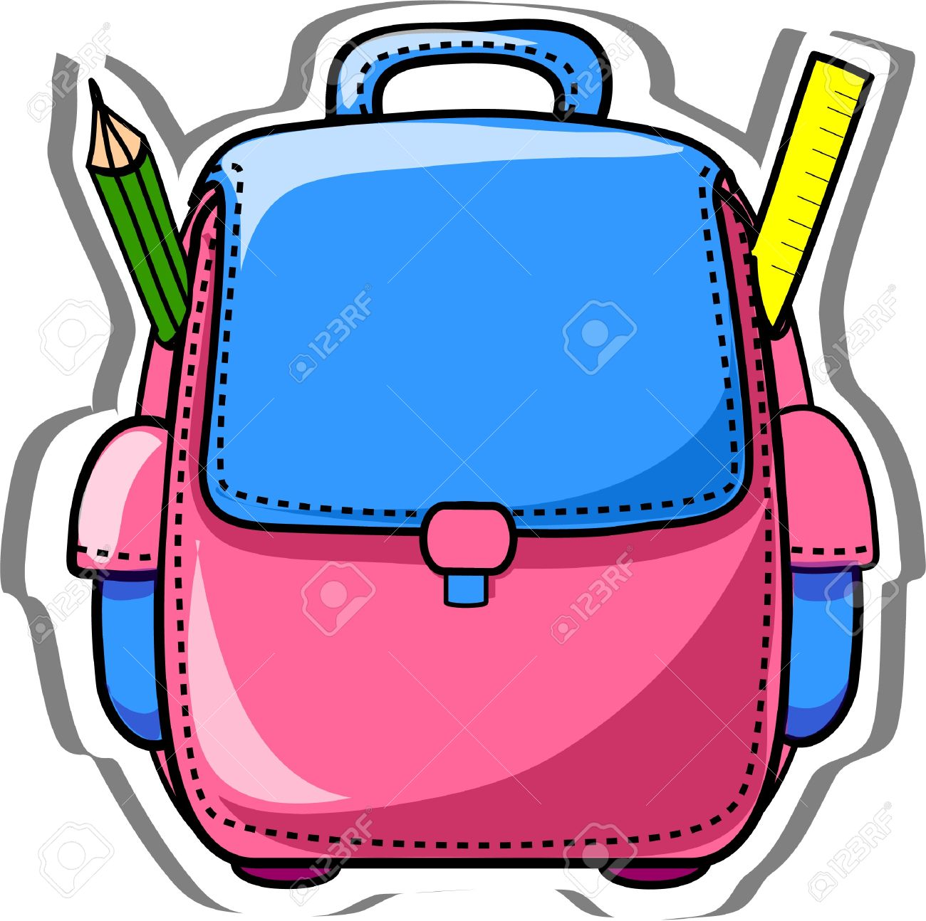 1300x1294 School bag clipart
