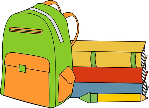 500x361 Bag clipart school stuff