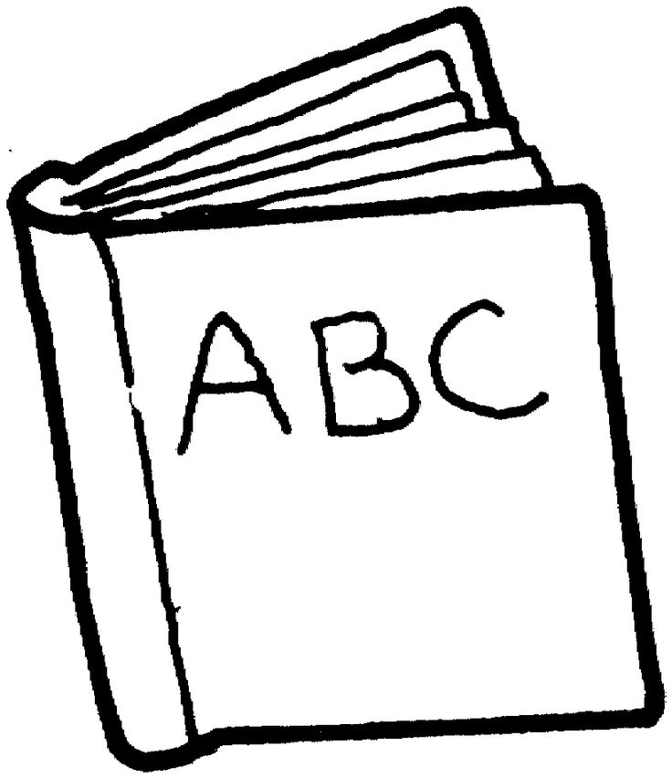 Book Black And White Clipart