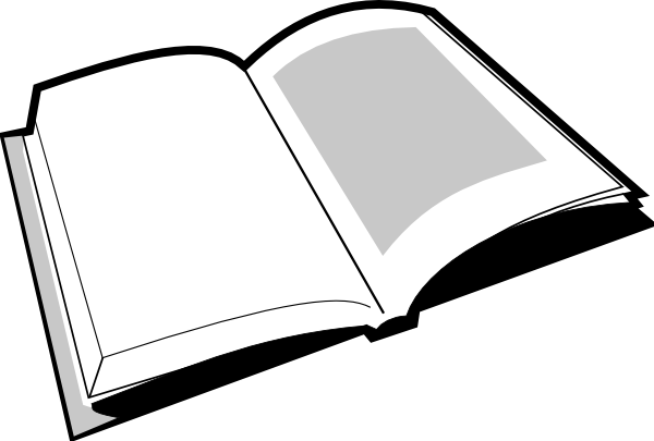 600x405 Black And White Book Clipart