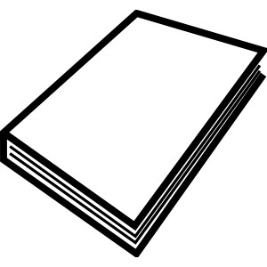 300x300 Book Black And White Open Book Clip Art Black And White Free