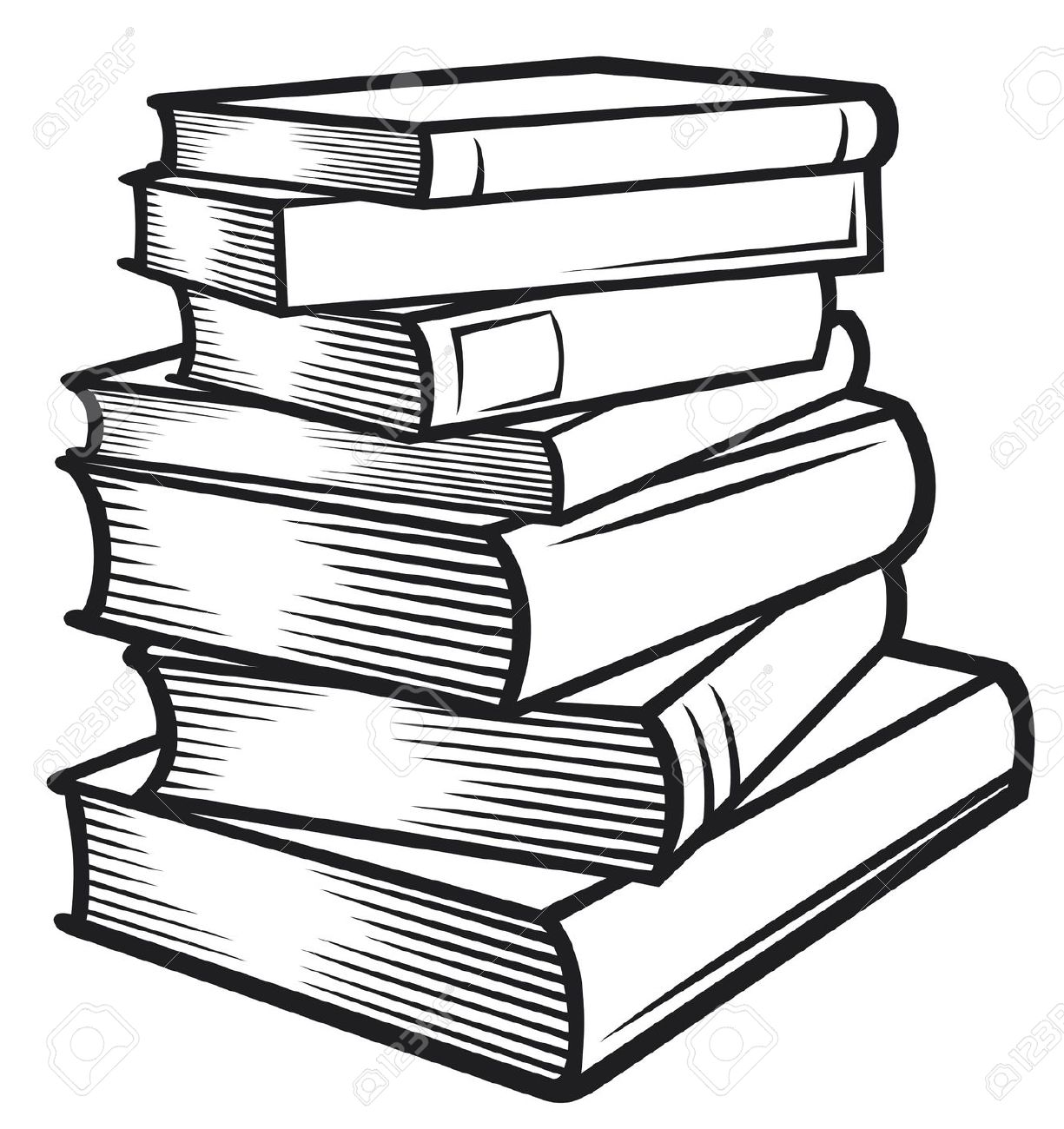1225x1300 Image Of Books Clipart Black And White