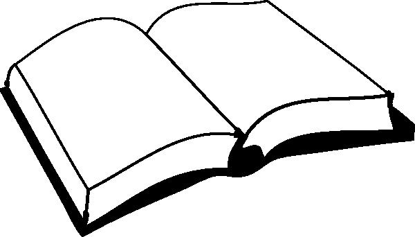 600x342 Open Book Black Clip Art