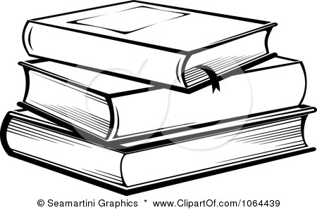 450x299 Stack Of Books Black And White Clipart