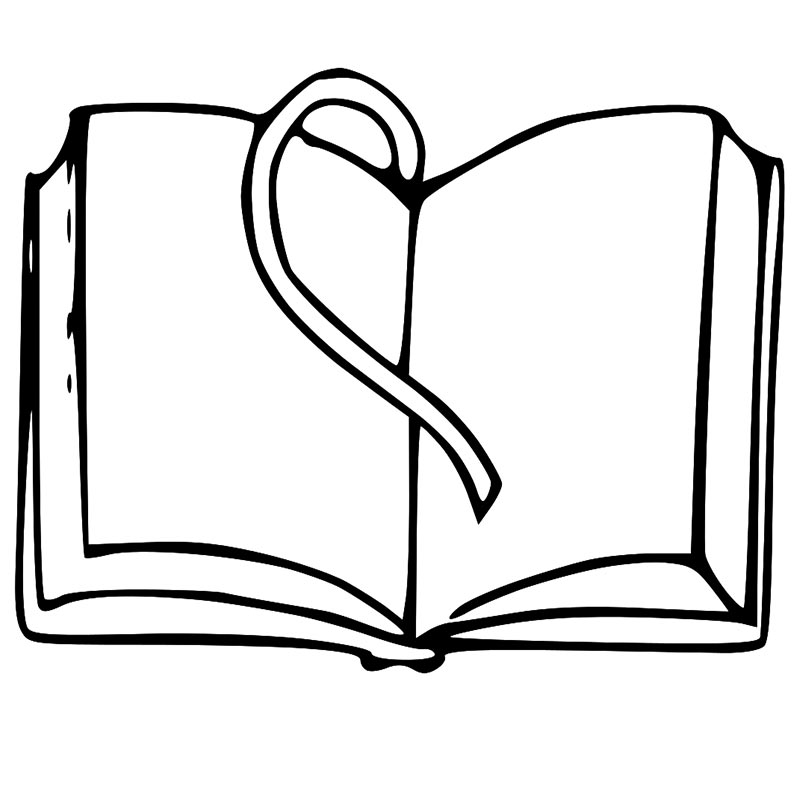800x800 Black And White Book Clipart