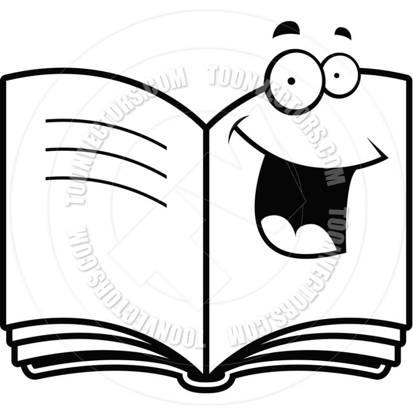 830x830 Book Clipart Balck White