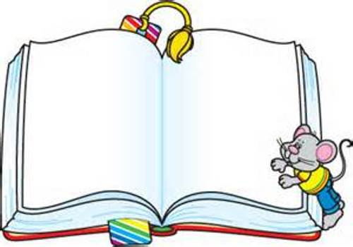 500x350 Image Of Books Border Clipart