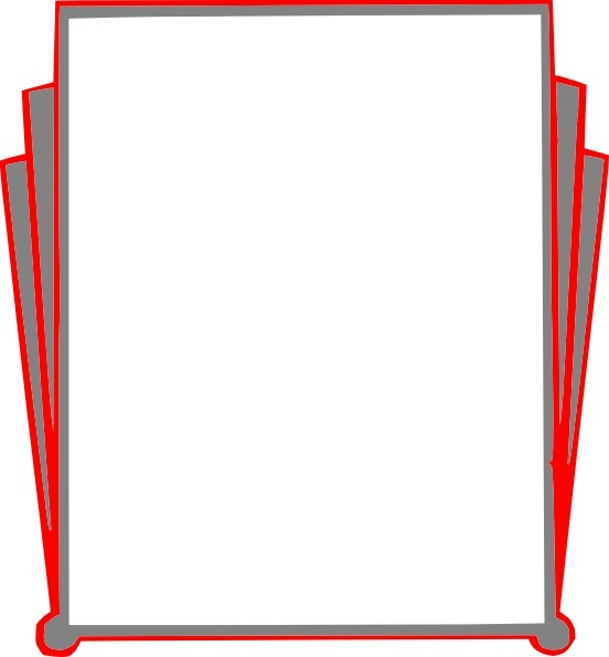 552x595 Decorative Border Pages Book Clip Art Free Vector In Open Office