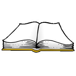 250x250 Gold Open Book Clip Art Free Borders And Clip Art