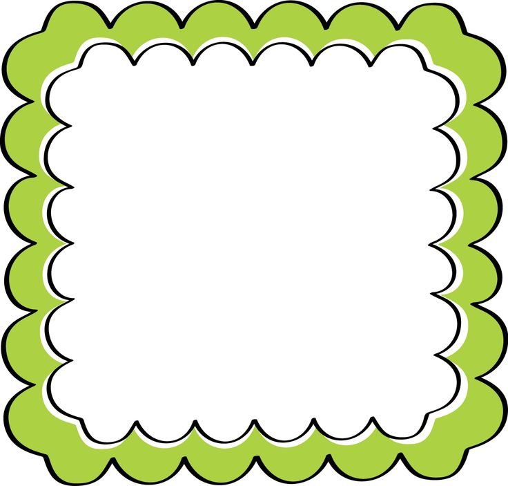 736x703 School Theme Border Clipart Green Scalloped Frame Free Clip
