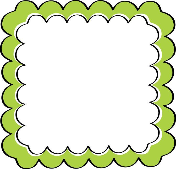736x703 School Theme Border Clipart Green Scalloped Frame Free Clip