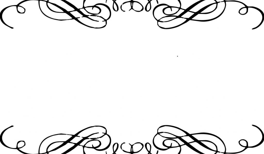 1024x600 Swirl Border Clip Art