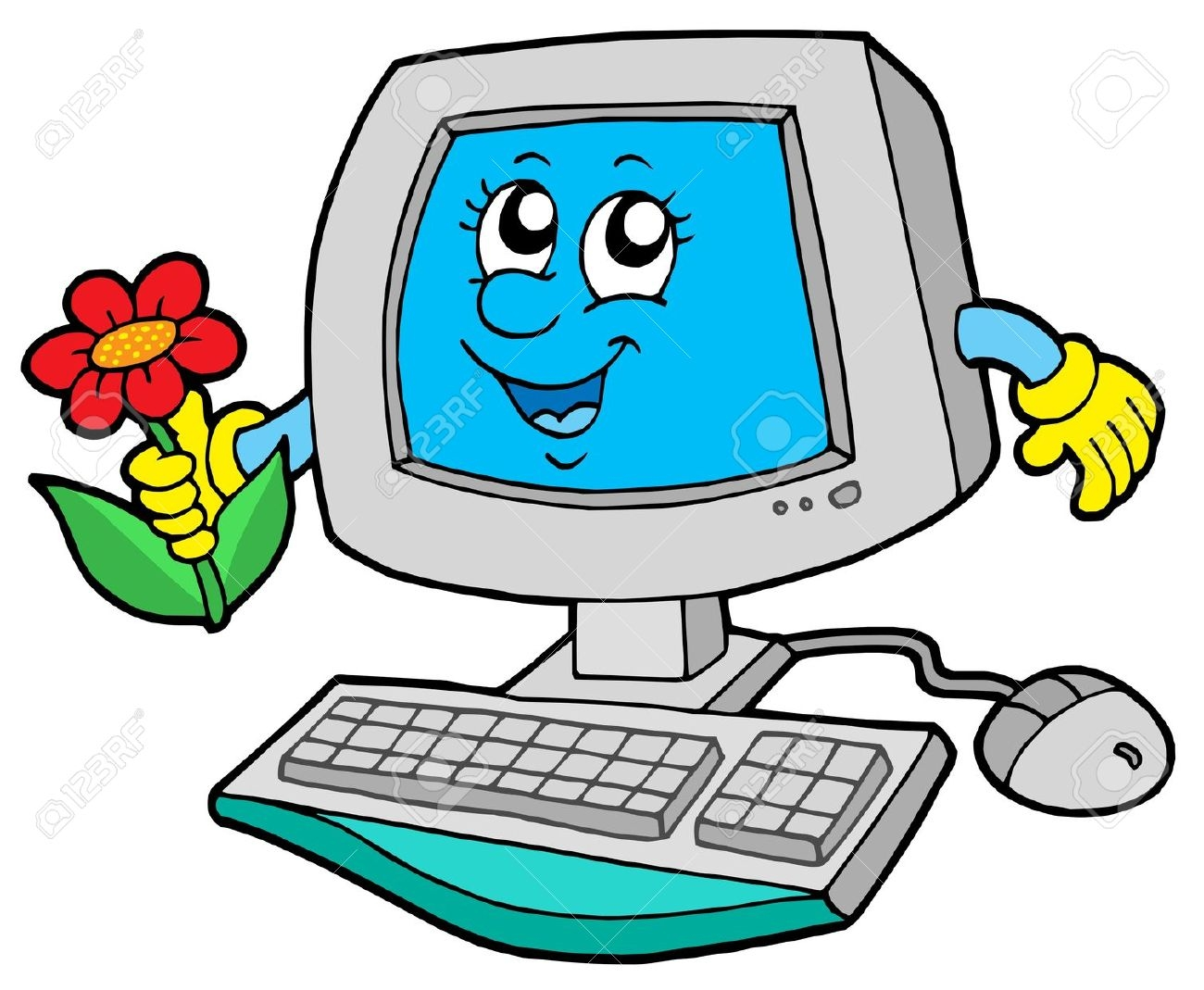 1300x1069 Computer clipart cartoon