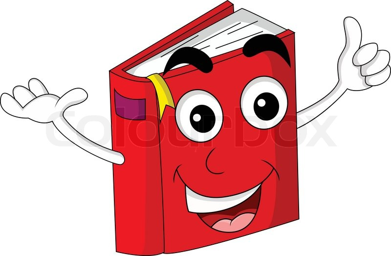 800x523 Cute red book cartoon Stock Vector Colourbox