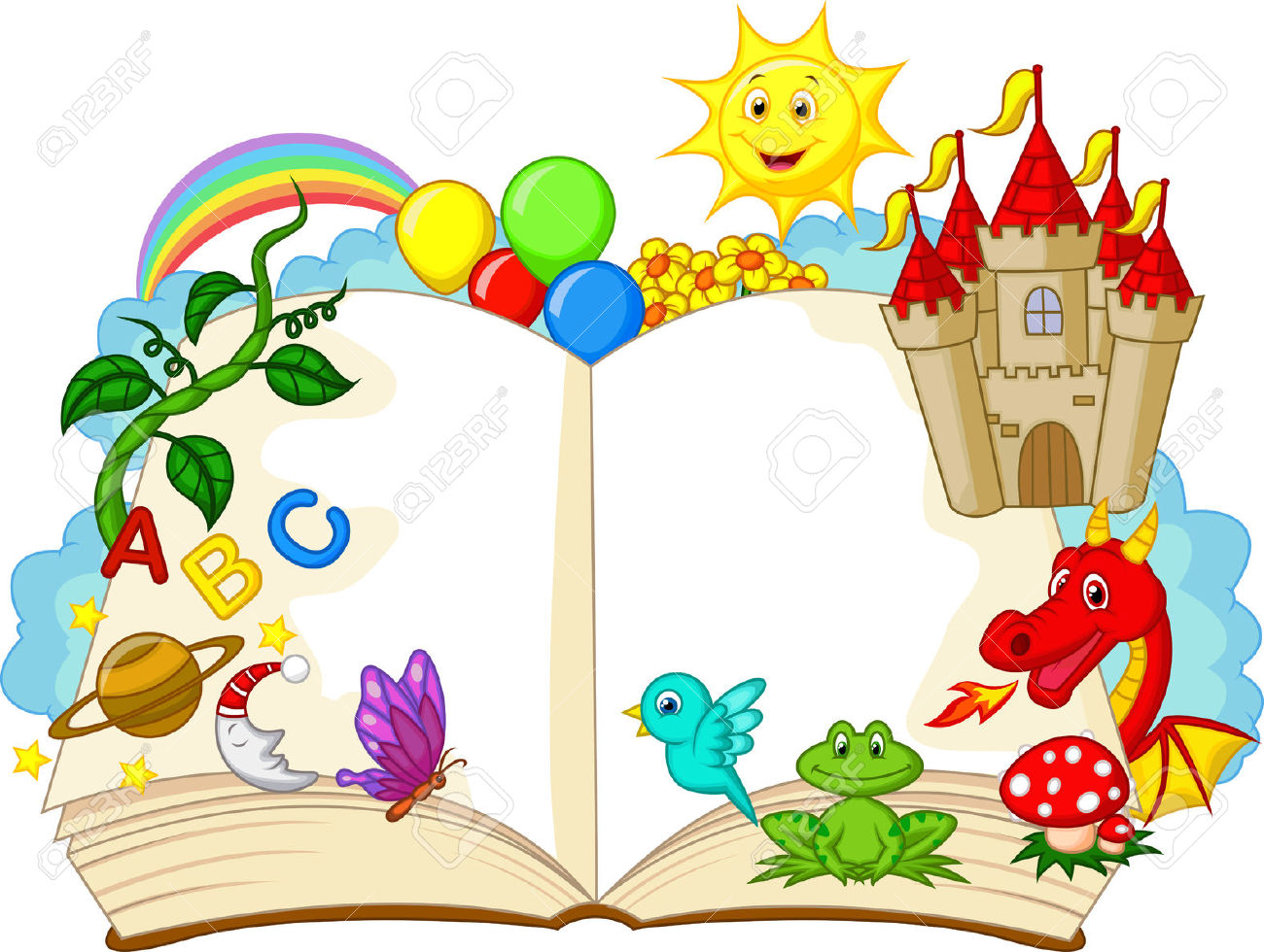 1300x980 Fantasy Book Cartoon Royalty Free Cliparts, Vectors, And Stock