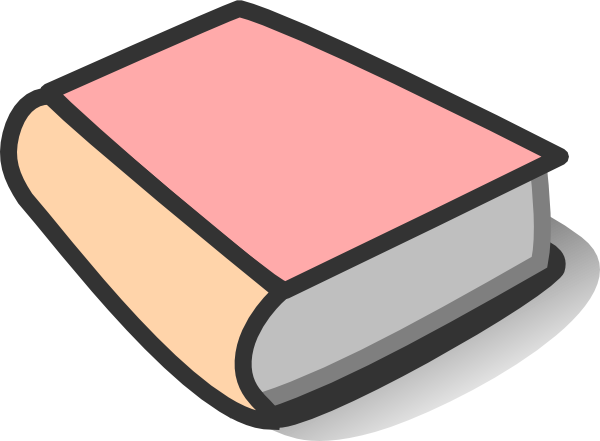 600x441 Pink Book Reading Clip Art