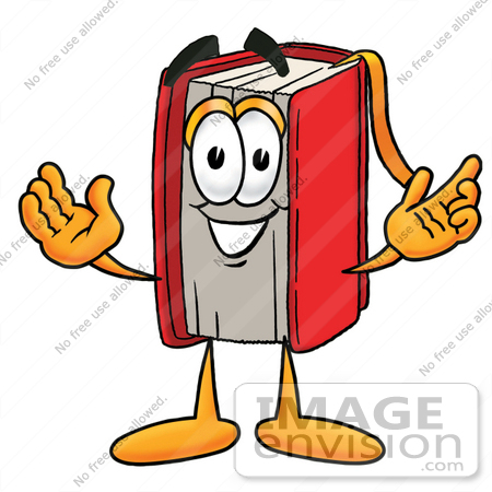 450x450 Clip Art Graphic Of A Book Cartoon Character With Welcoming Open