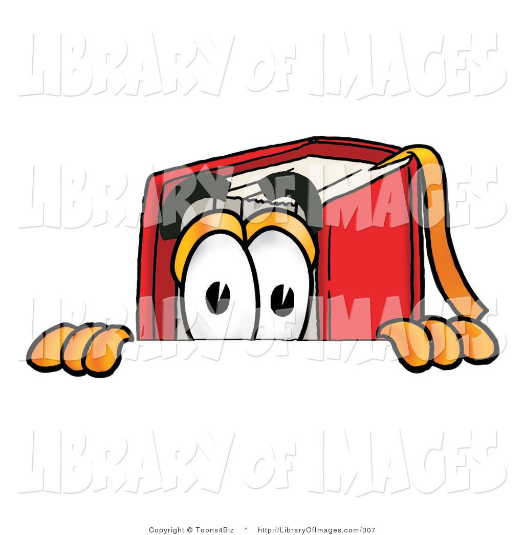 1024x1044 Clip Art Of A Curious Red Book Mascot Cartoon Character Peeking