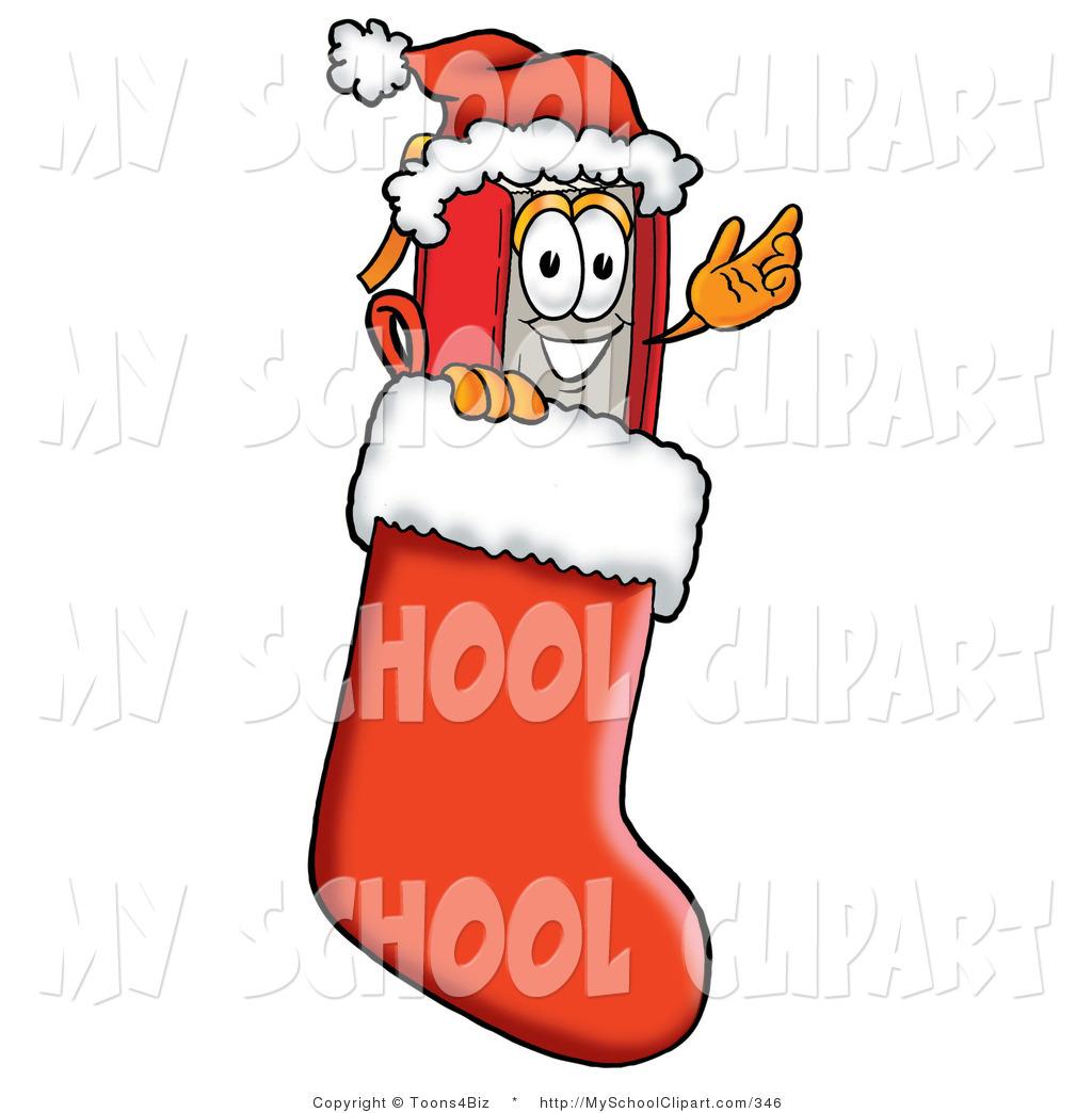 1024x1044 Clip Art Of A Festive Winter Red Book Mascot Cartoon Character