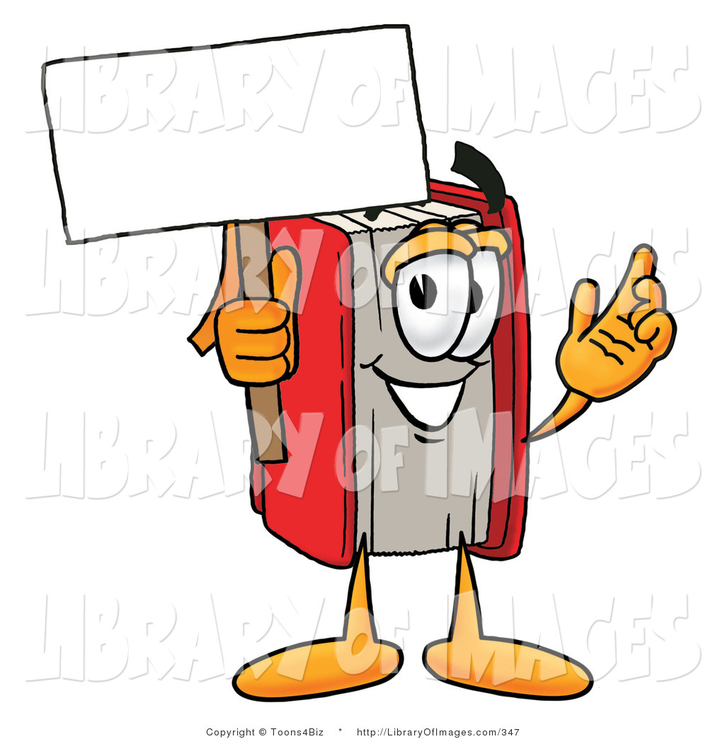 1024x1044 Clip Art Of A Red Book Mascot Cartoon Character Holding A Blank