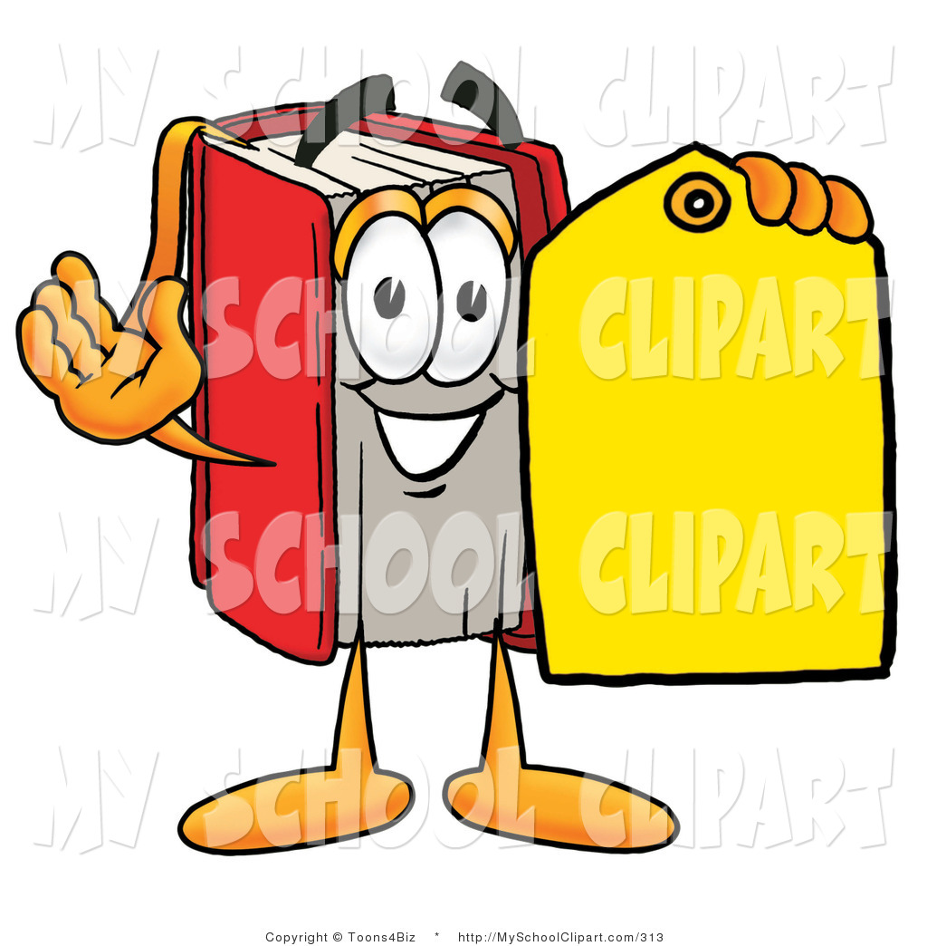 1024x1044 Clip Art Of A Red Book Mascot Cartoon Character Holding A Yellow