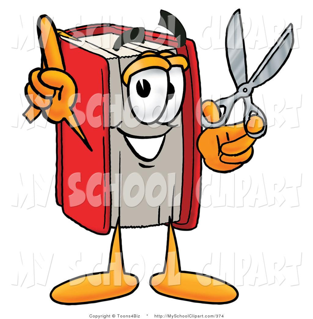 1024x1044 Clip Art Of A Red Book Mascot Cartoon Character Holding An Open