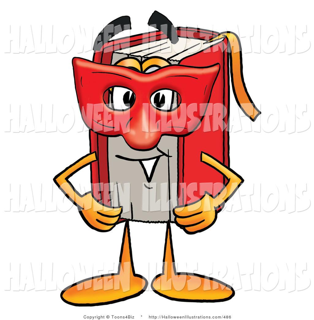 1024x1044 Halloween Clip Art Of A Superhero Red Book Mascot Cartoon