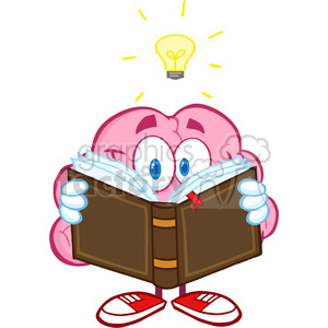 300x300 Royalty Free 5841 Royalty Free Clip Art Smiling Brain Cartoon