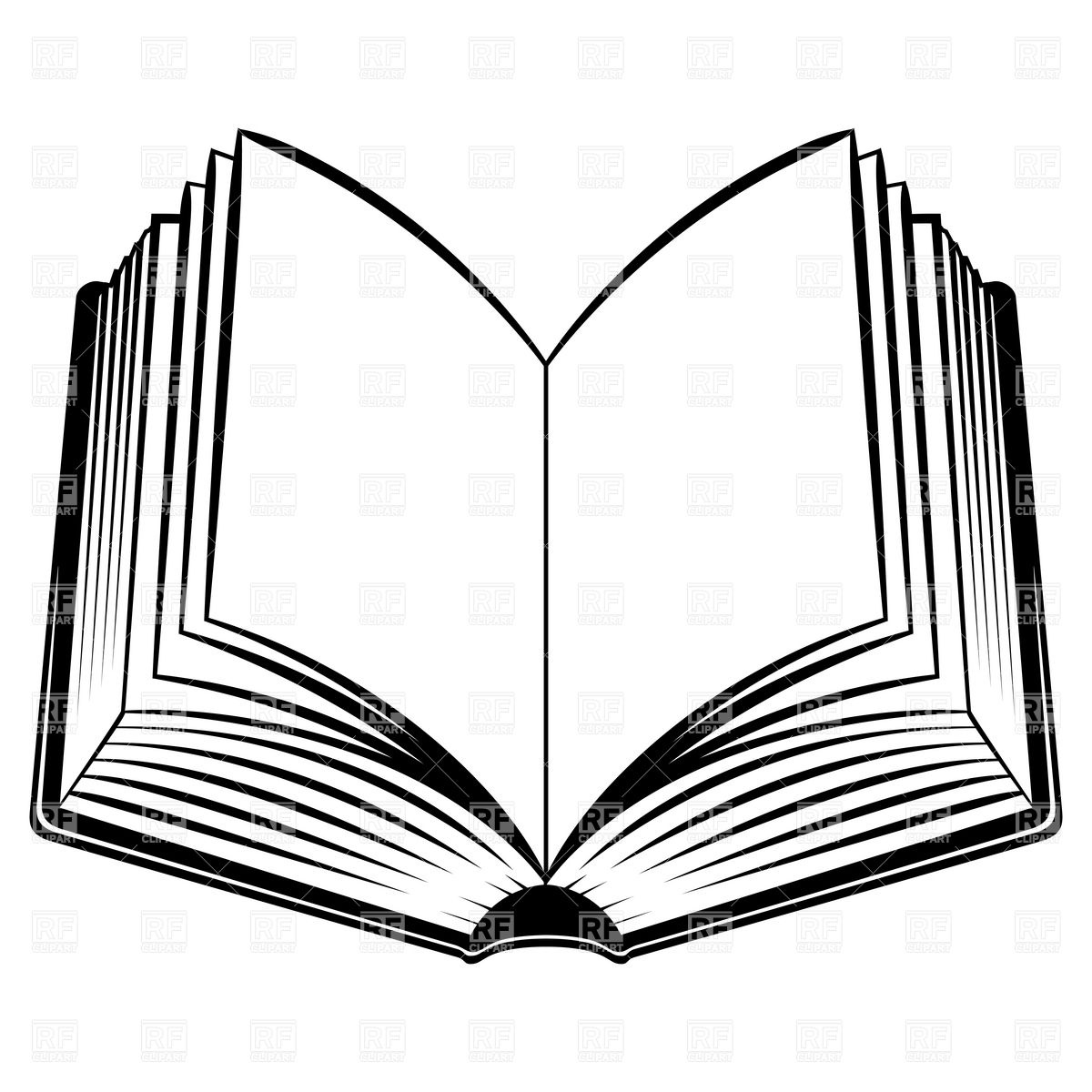 1200x1200 Open Book Outline Clipart Free Images 2