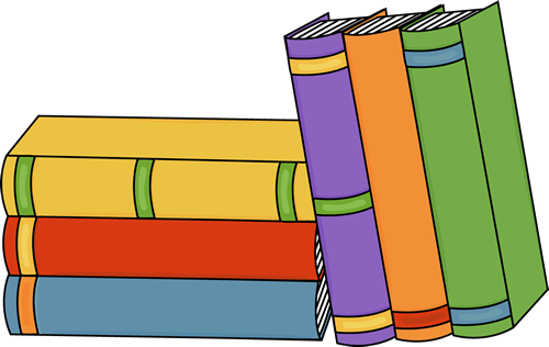 500x316 Stacked Book Spine Clipart