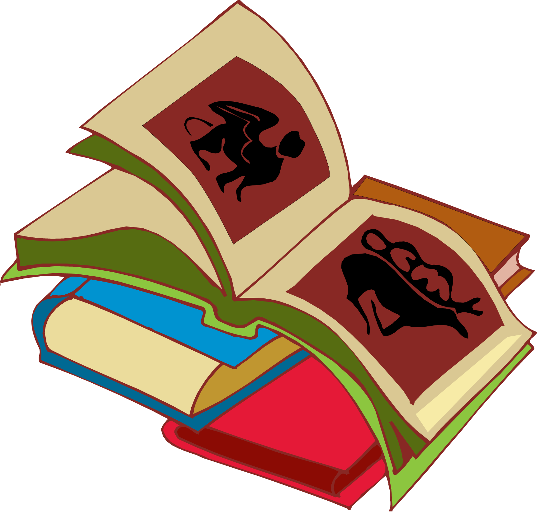 1724x1652 Books stack clipart