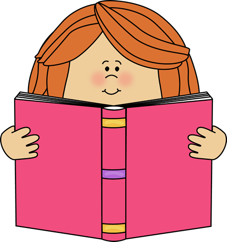 469x500 Girl Reading A Book Clip Art