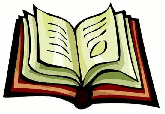 550x380 Image of Open Book Clipart